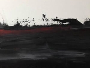 sea of black abstract painting
